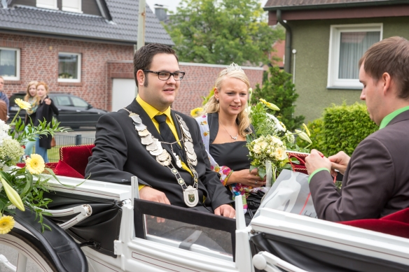 König Dennis Niewerth mit seiner Königin Maren Sietmann