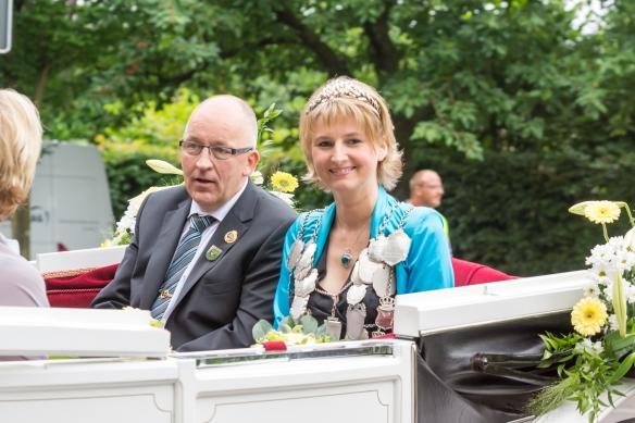Königin Stefanie Becks und Prinzgemahl Volker Dieminger
