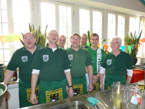 Das Zapferteam im Rathaus