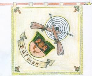 Skizze der neuen Fahne Rückseite