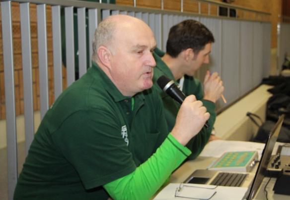 Eine perfekte Turnierleitung: Martin Wewerink und Hermi Fauler