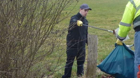 Im Einsatz hinter dem Weidezaun. Für Mirko gab es keine Hindernisse.