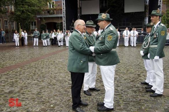 Ehrung von Ralf Lehmann als Silberkönig und Volker Dieminger für beondere Verdienste