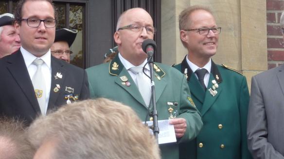 Die Glückwünsche der innerstädtischen Schützenvereine überbrachte Volker Dieminger.