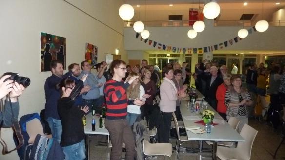 Standing Ovation gleich zu Beginn des Abends. Wo gibt es so etwas noch....