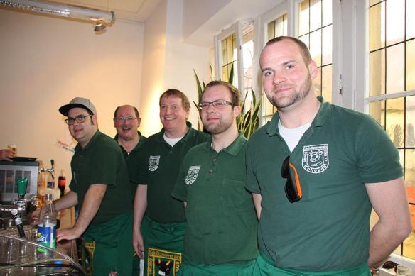 Ein Team, das Beachtung fand (auf dem Bild fehlen Holger und Guido) Foto: DZ Dülmen