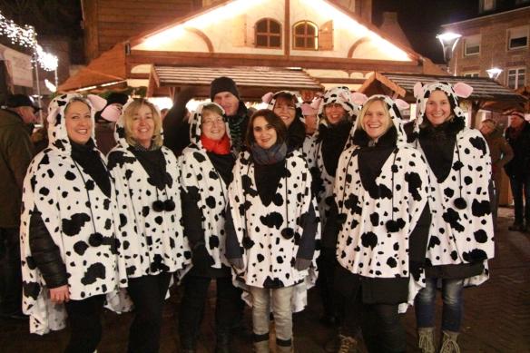 Sollten im Verlaufe des Turniers nicht nur optisch eine gute Figur machen: die Kohvedeler Eiskühe
